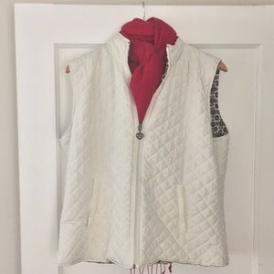 Reversible Winter White Quilted Vest